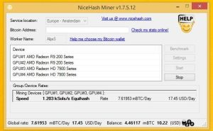 nicehash miner screen